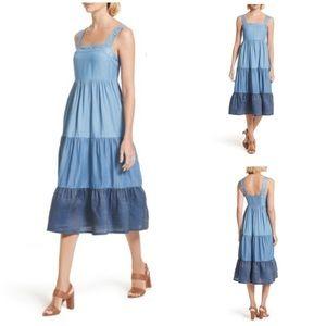 Kate Spade Broome Street chambray patio dress XL